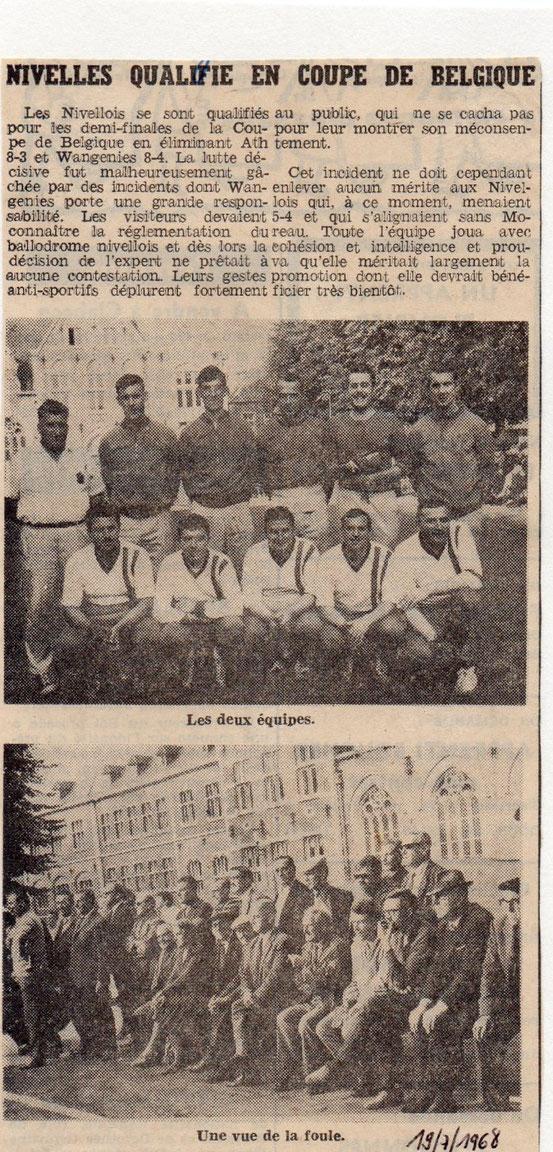 """Article paru dans le journal """"Le Peuple"""" du 19/7/1968"""