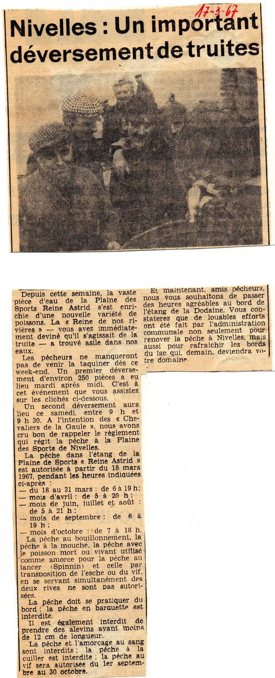 """Article paru dans """"Le Peuple"""" du 17/3/1967"""