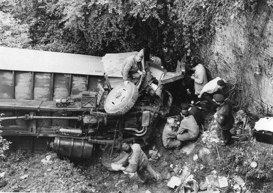 En 1968, grave accident à la Chaussée de Bruxelles (3 blessés)