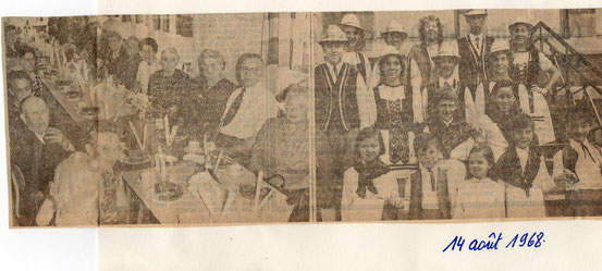 """Article paru dans le journal """"Le Peuple"""" du 14/8/1968"""
