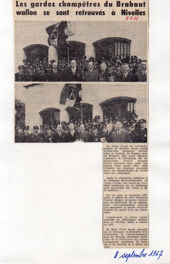 """Article paru le 8/9/1967 dans le journal """"Le Peuple'"""