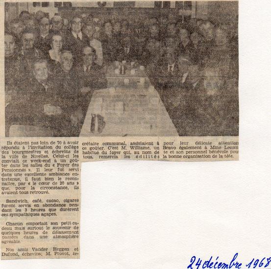 """Article paru dans le journal """"Le Peuple"""" du 24/12/1968"""