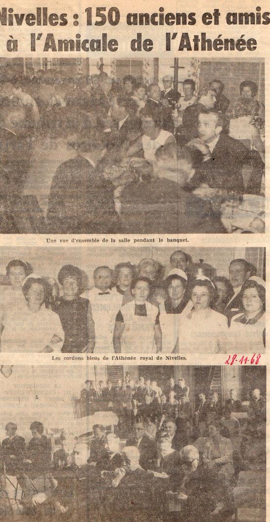 """Article paru dans le journal """"Le Peuple"""" du 28/11/1968"""