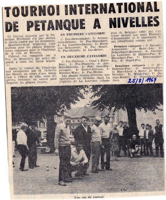 """Article paru dans le journal """"Le Peuple"""" du 25/08/1968"""