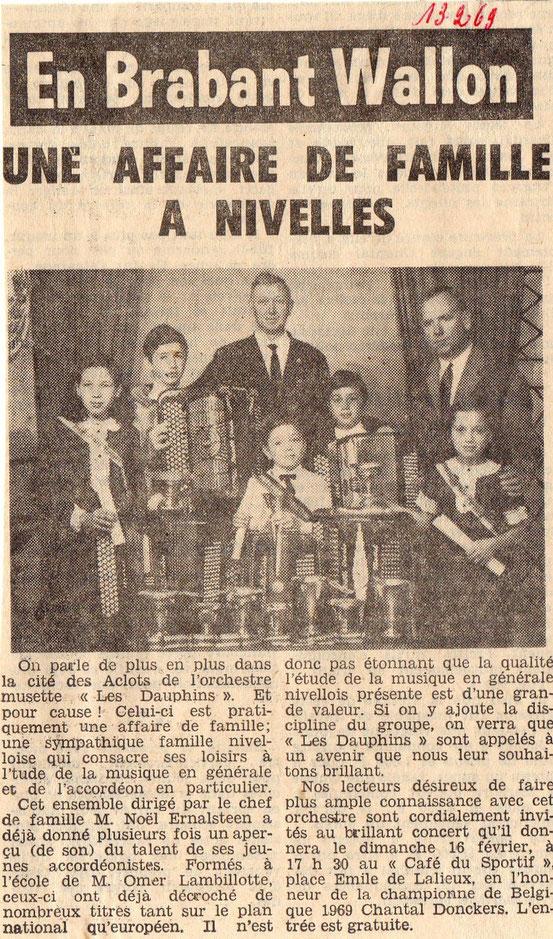 """Article paru dans le journal """"Le Peuple"""" du 13/02/1968"""