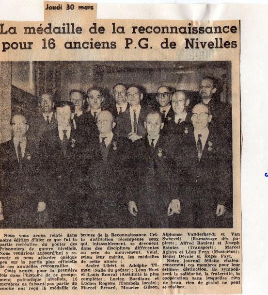 """Article paru dans le journal """"Le Peuple"""" du 30/3/1967"""