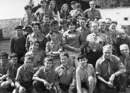 Participants au Camp de Finlande des Faucons Rouges