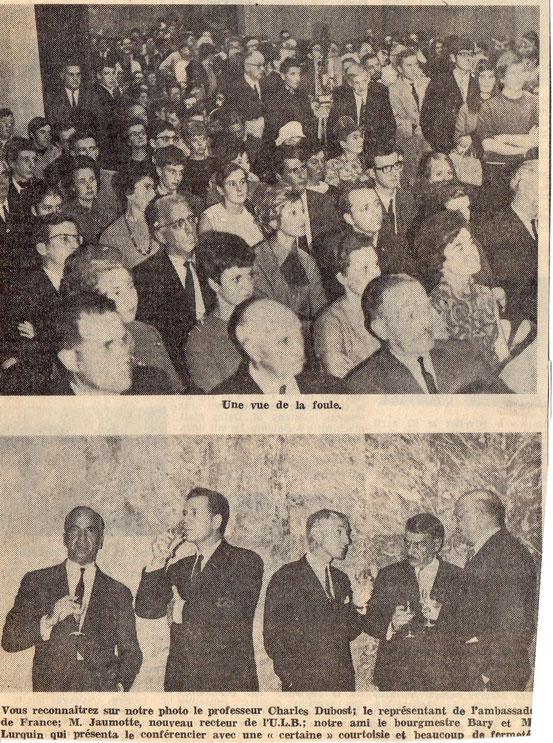"""article paru dans le journal """"Le Peuple"""" du 4/10/1968"""