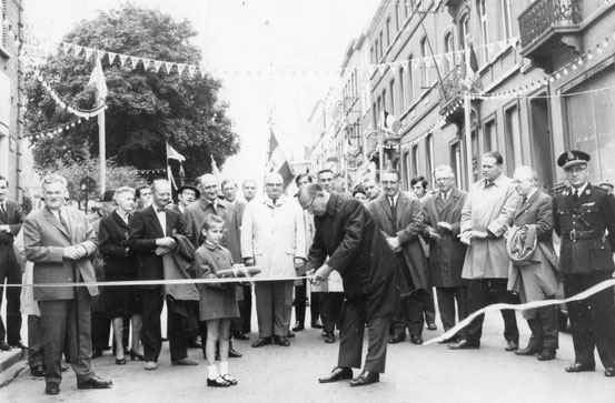 Inauguration par le Bourgmestre Désiré Guillaume