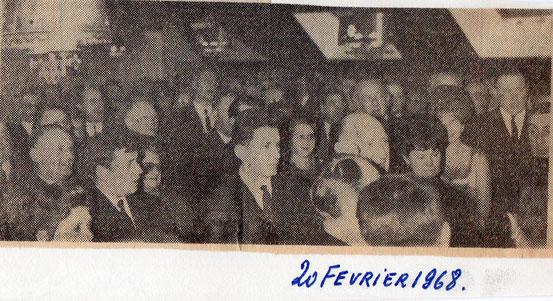 """Article paru dans le journal """"Le Peuple"""" du 20 /02/1968"""