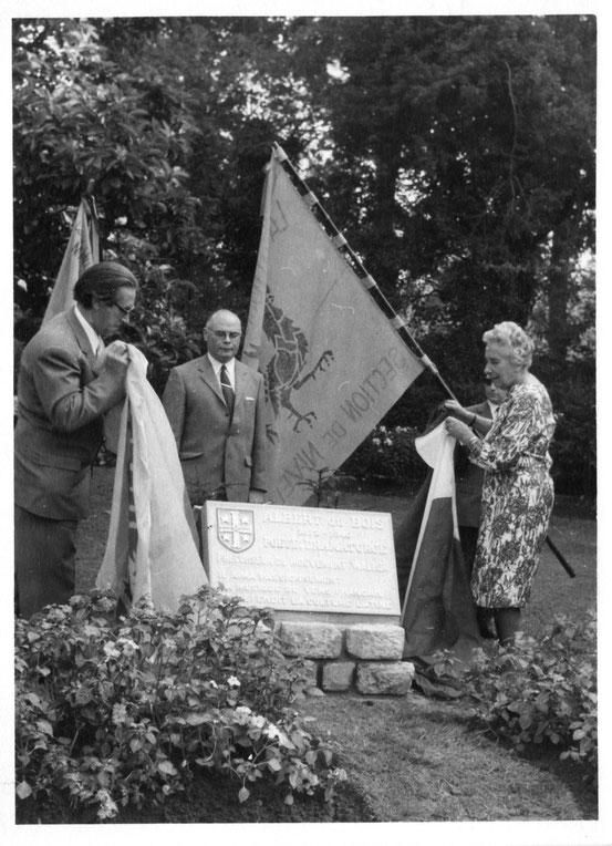 Hommage au Comte du Bois en septembre 1970