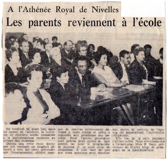 """Article paru dans le journal """"Le Peuple"""" du 1er juin 1967"""