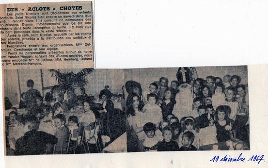 """Article paru dans """"Le Peuple"""" le 19/12/1967"""