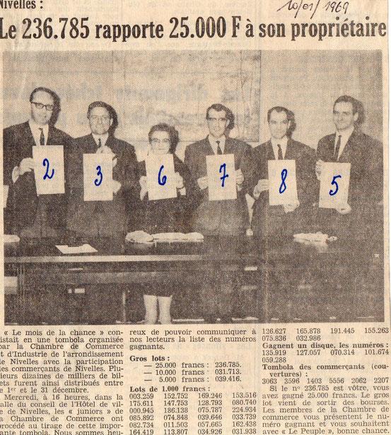 """Article paru dans le journal """"Le Peuple"""" de 10/1/1969"""