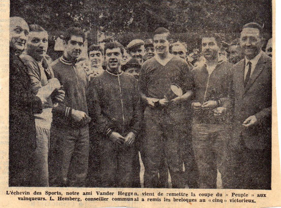 """Article et photos dans le journal """"Le Peuple"""" du 12/09/1967"""