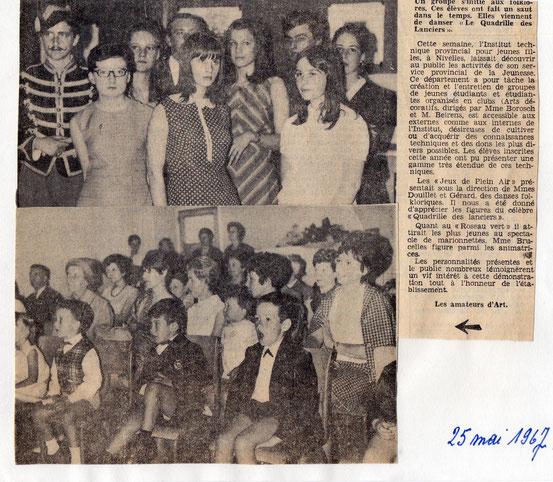 """Article paru dans """"Le Peuple"""" du 25 mai 1967"""