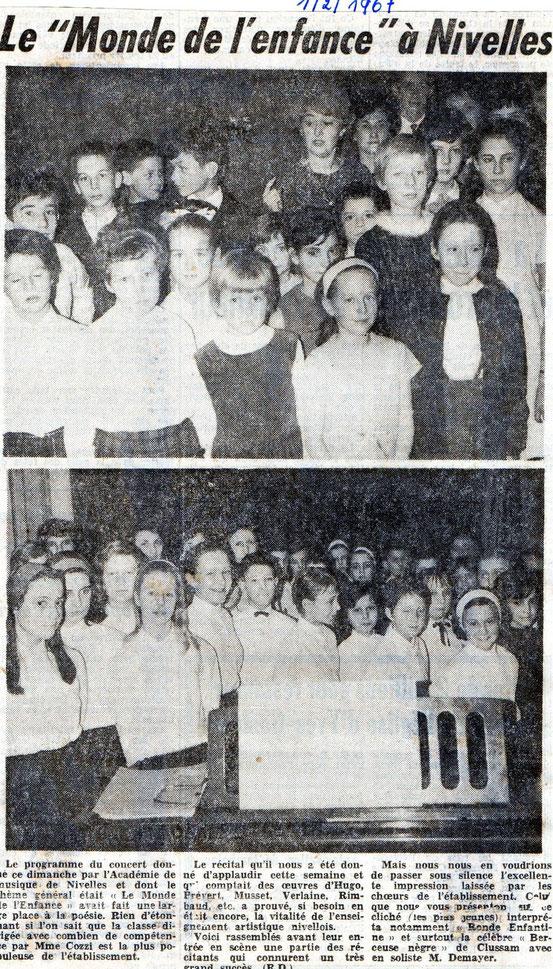 """Article paru dans le journal """"Le Peuple"""" du 1/02/1967"""