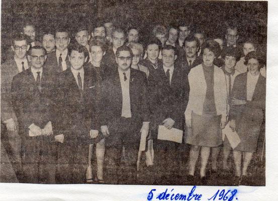 """Article paru dans le journal """"Le peuple"""" du 5/12/1968"""