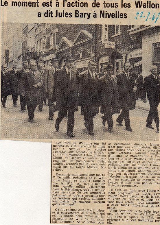 """Article paru dans le journal """"Le Peuple"""" du 27/9/1967"""
