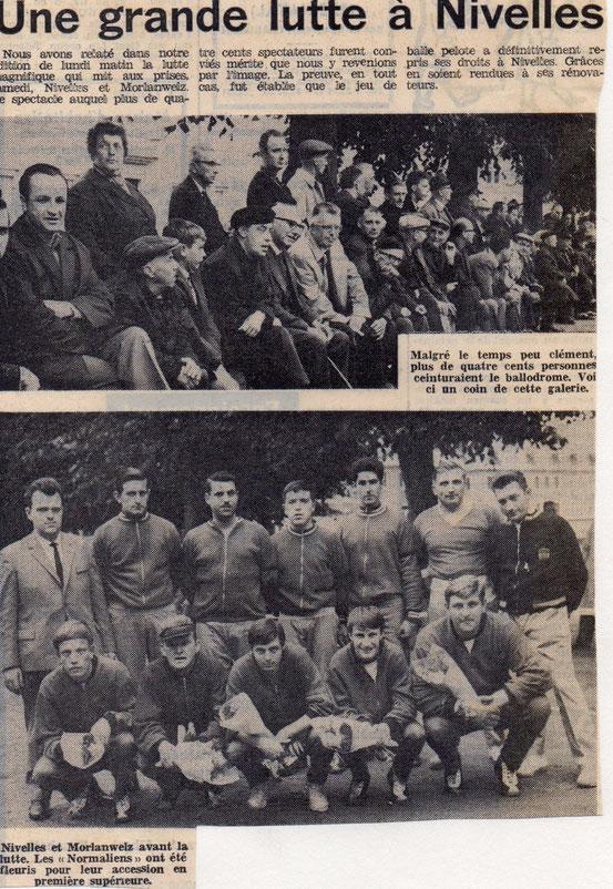"""Article paru dans le journal """"Le Peuple"""" du 23/08/1967"""