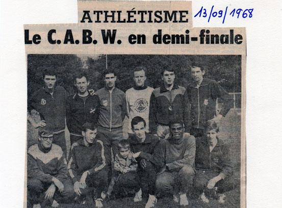 """Article paru dans le journal """"Le Peuple"""" du 13/9/1968"""