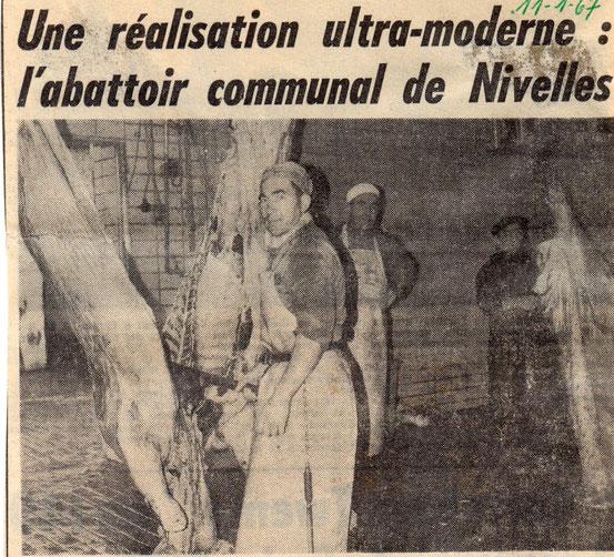 """Article paru dans le journal """"Le Peuple"""" du 11/01/1967"""