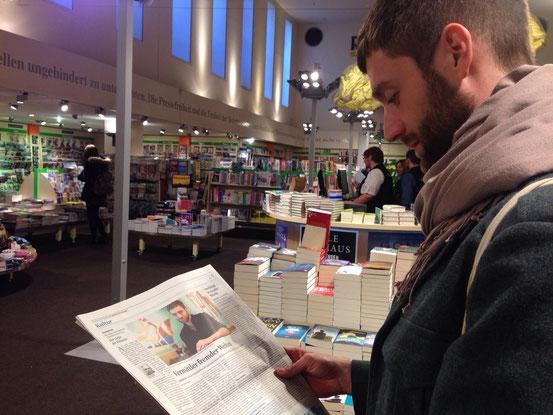 """In Düsseldorf den """"Kölner Stadtanzeiger"""" lesen: Kann man mal machen."""
