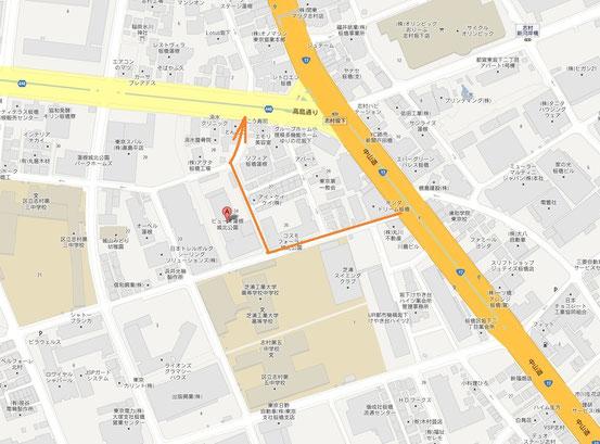 抜け道の地図