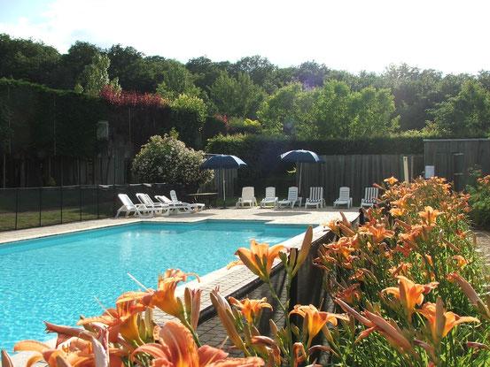la piscine et les gites