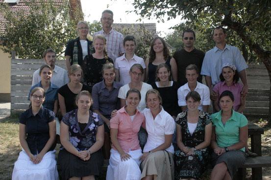Ein Großteil der deutschen und rumänischen Mitarbeiter (Herbst 2011)