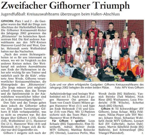 """März 2012 in der """"Braunschweiger Zeitung"""""""