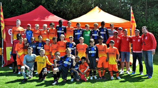 Grasshoppers mit Inter Mailand im Juni 2013