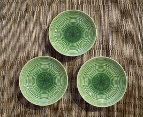美濃焼 小皿(緑)