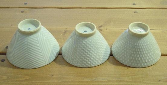 波佐見茶碗「orime」ヘリンボーン、シャークスキン、鹿の子