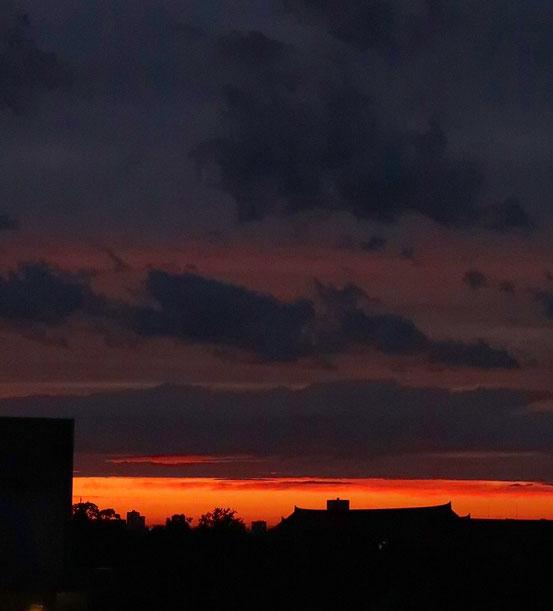 台東区の夕焼け
