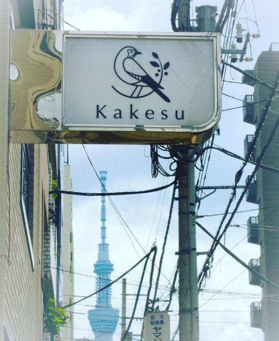Kakesu看板とスカイツリー