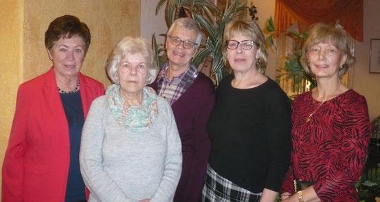 von links: Marion Wagner, Birgit Frahm, Heidi Nagler, Heike Schinkel und Heidi Kieselbach