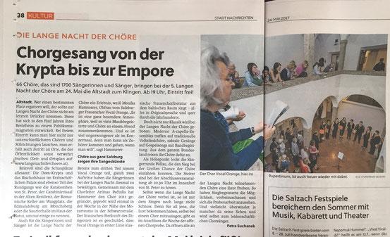 """""""Salzburger Stadt Nachrichten"""" 24.05.2017"""