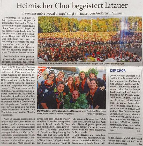 Heimischer Chor begeistert Litauer