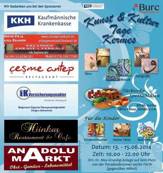 Mosaik-Schnupperkurs beim Kulturfest Fürth 2014