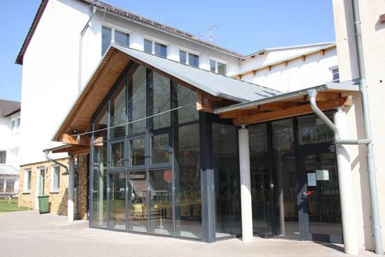 Blick vom Westhof auf das Atrium
