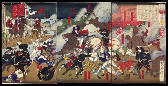 003鹿児島征討記内 熊本城ヨリ諸所戦争図第弐