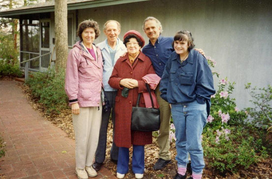 ( L-R ) Leatrice with her father Darwin, mother- Jeanne , Jeff Wolverton & unknown. at the Meher Center, Myrtle Beach, SC.