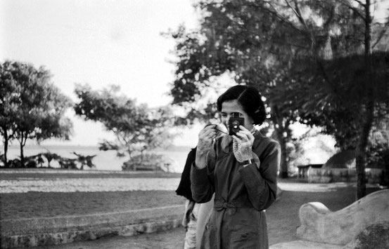 Late 1930s, India. Mani taking a photo.