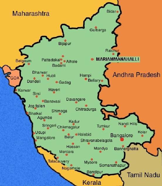Karnataka pour visualiser les différents dites visités