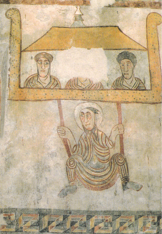 """Der """"Schaukler"""" frühmittelalterliches Fresko in St. Prokulus Naturns"""