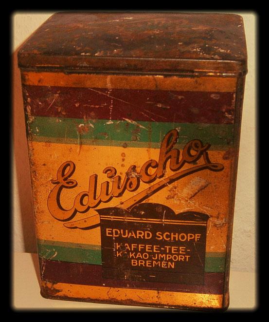 Eduscho Kaffeedose um 1950