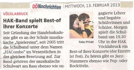 Oberösterreichische Nachrichten, 14.2.2013