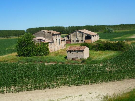 Vorbei an einsamen Bauernhöfen