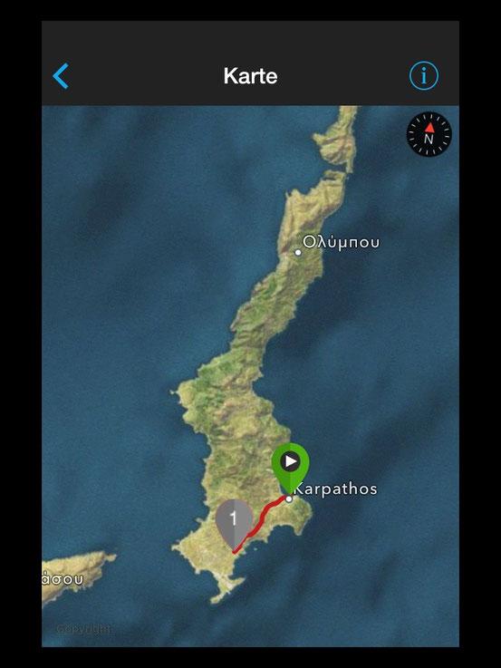 Strecke Pigadia - Afiartis
